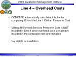 line 4 overhead costs