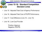 lines 15 18 standard competition decision lines