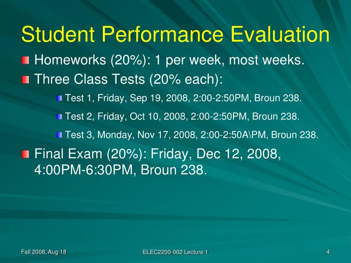 Student Performance Evaluation