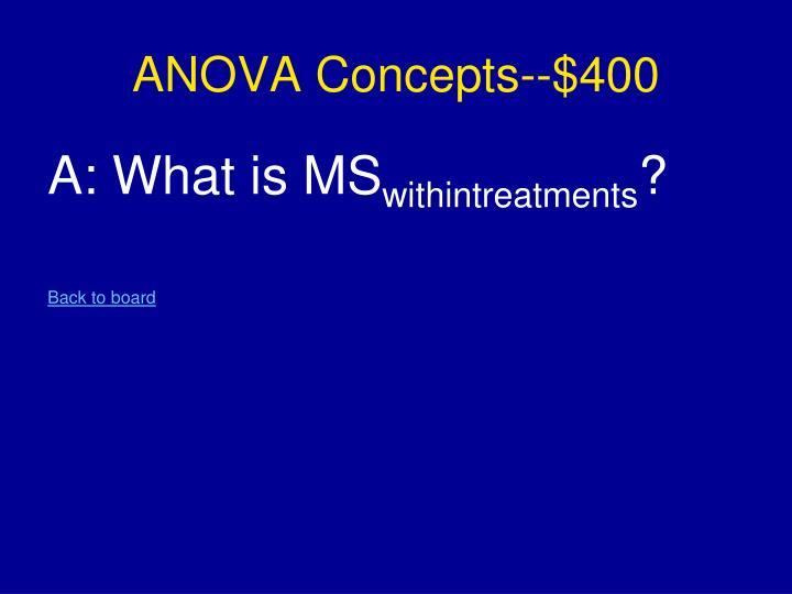 ANOVA Concepts--$400