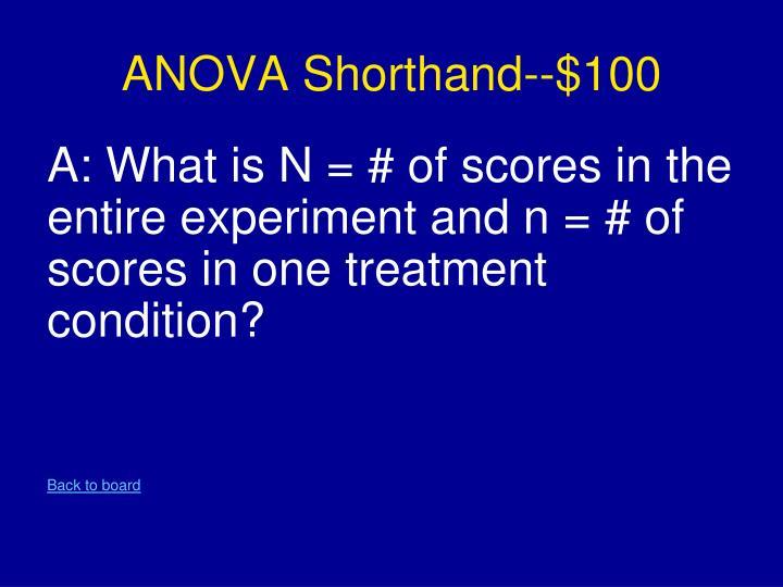 ANOVA Shorthand--$100