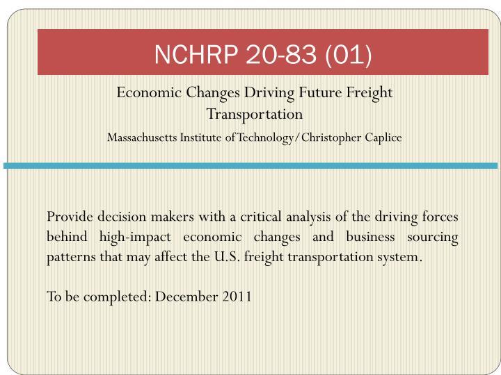 NCHRP 20-83 (01)