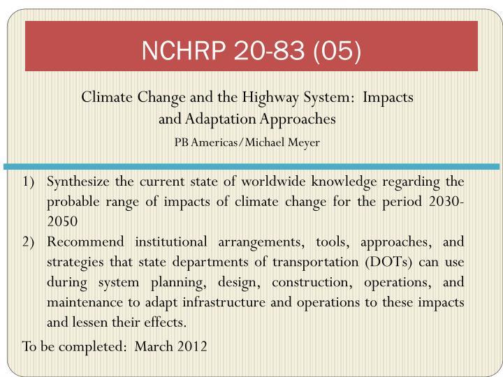 NCHRP 20-83 (05)