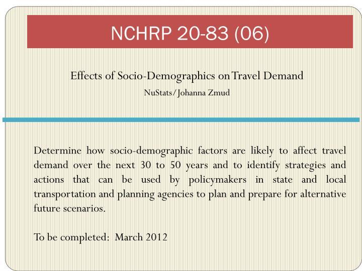 NCHRP 20-83 (06)