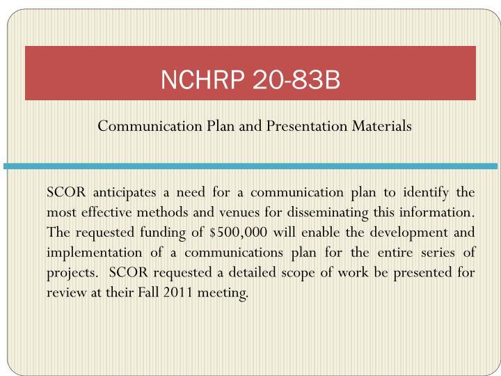 NCHRP 20-83B
