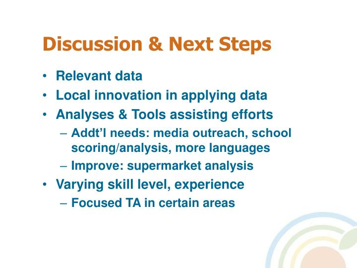 Discussion & Next Steps