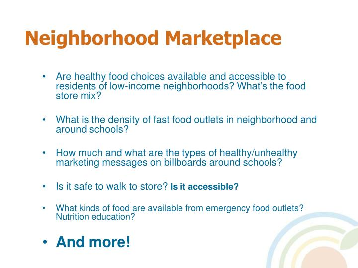 Neighborhood Marketplace