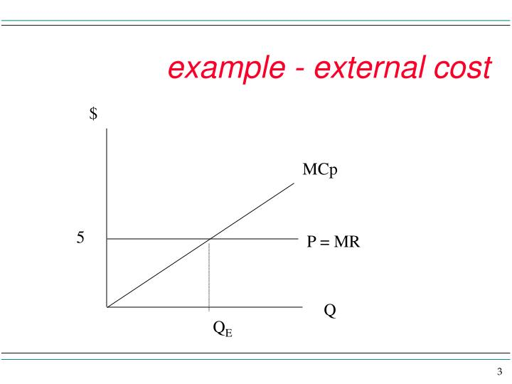 Example external cost