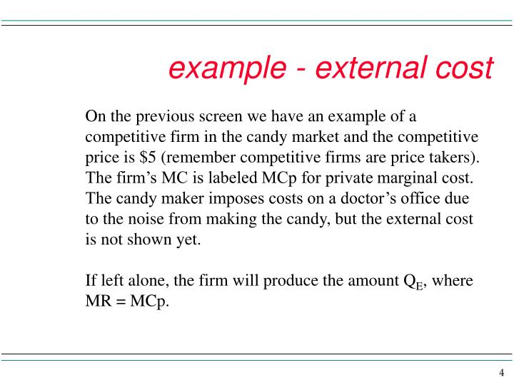 example - external cost