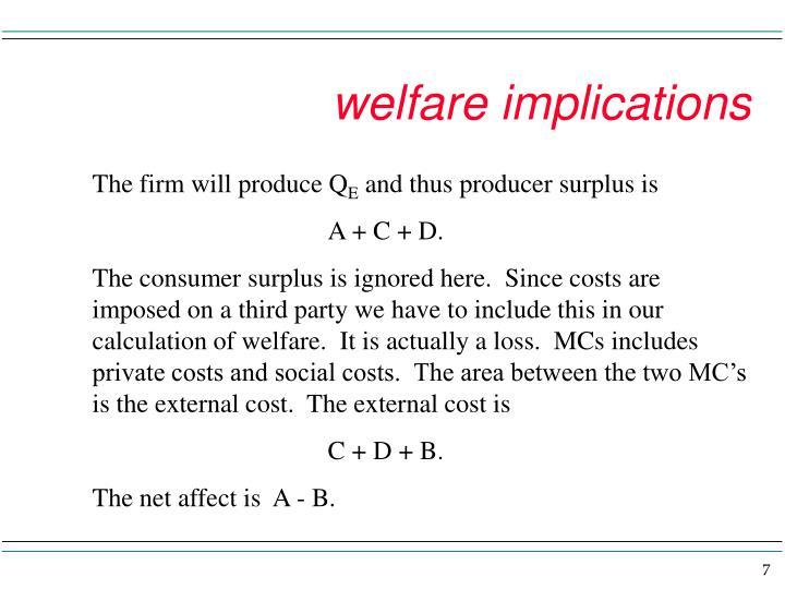 welfare implications