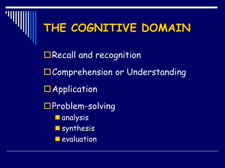 The cognitive domain