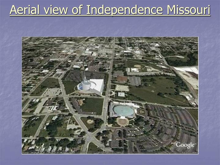 Aerial view of Independence Missouri