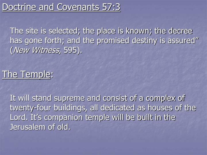 Doctrine and Covenants 57:3