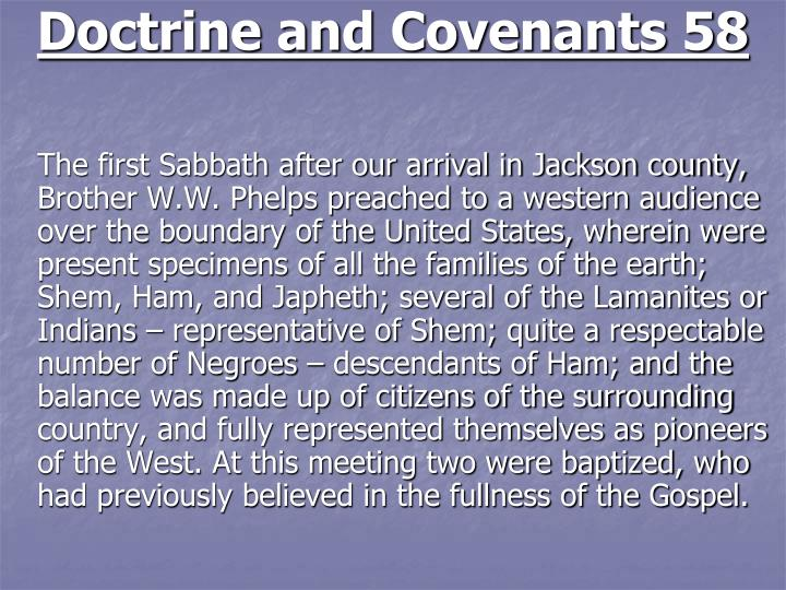 Doctrine and Covenants 58