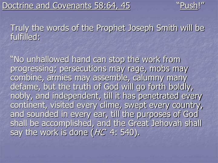 Doctrine and Covenants 58:64, 45