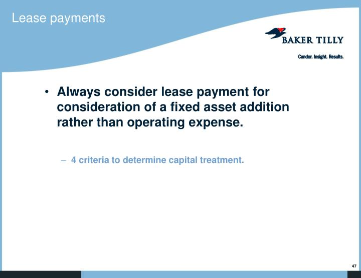 Lease payments