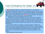 loss contingency for jeeps inc