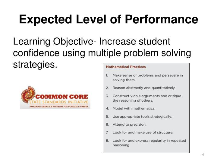Expected Level of Performance