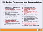 11 2 design parameters and documentation