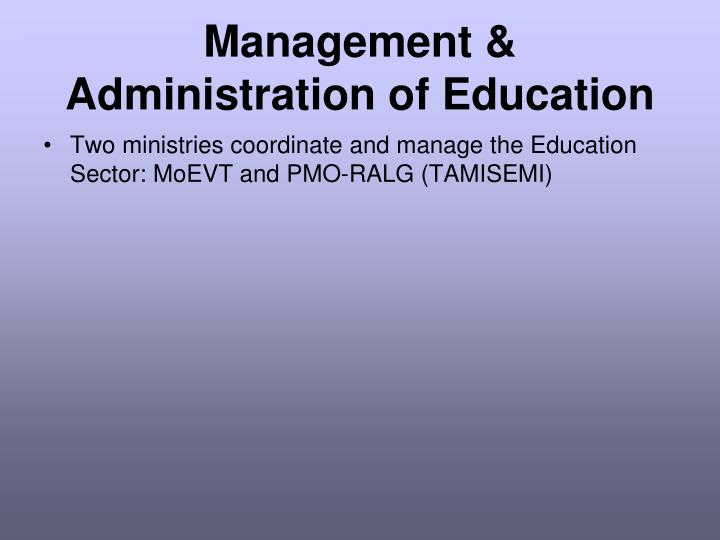 Management & Administration of Education
