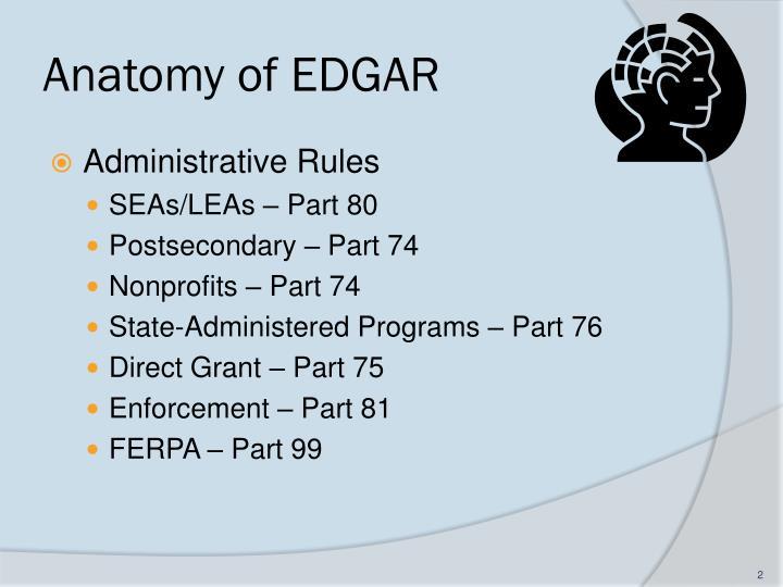 Anatomy of edgar