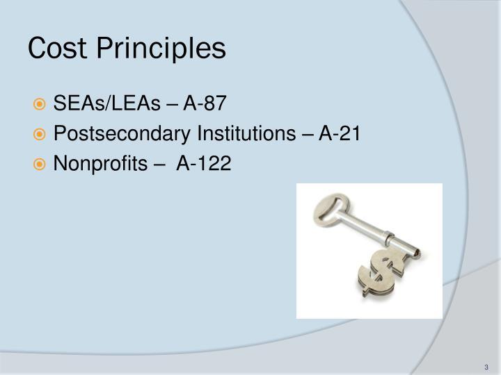 Cost principles