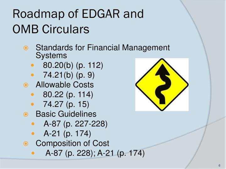 Roadmap of EDGAR and