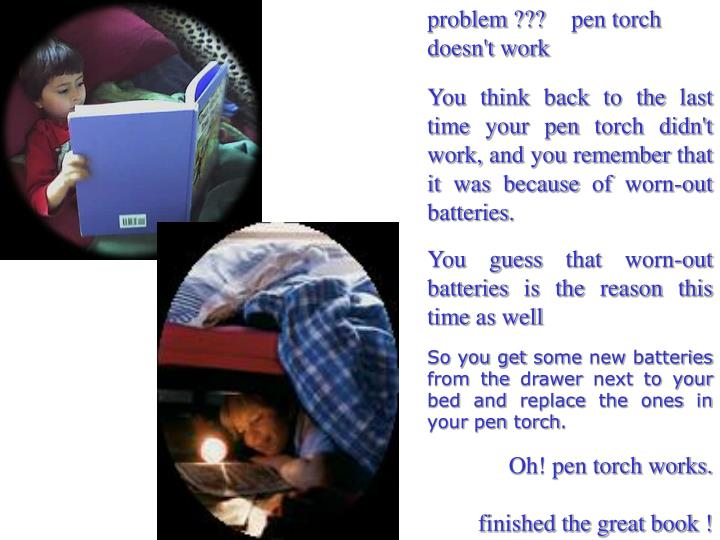 problem ???pen torch doesn't work