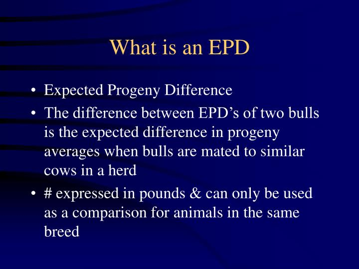 What is an EPD