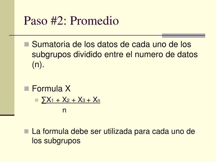 Paso #2: Promedio