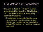 epa method 1631 for mercury