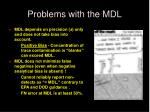 problems with the mdl2