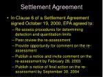 settlement agreement