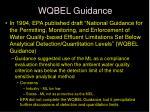 wqbel guidance