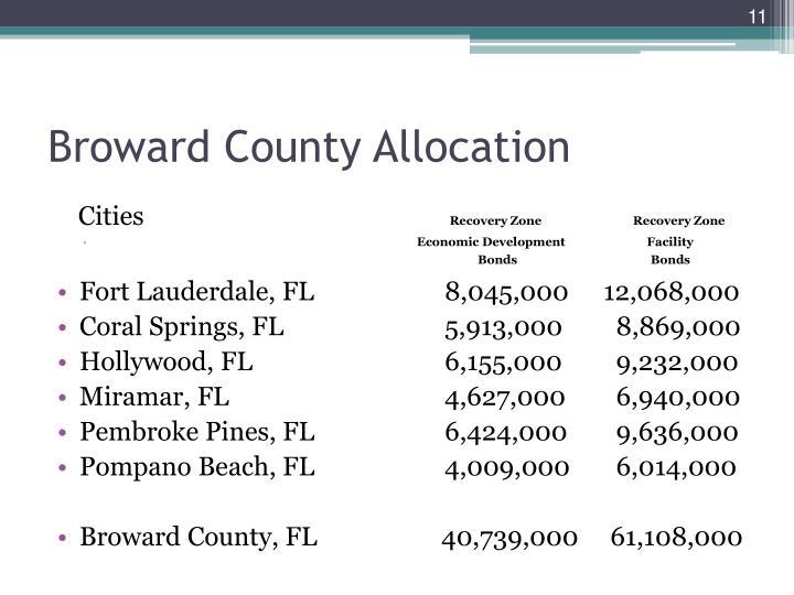 Broward County Allocation