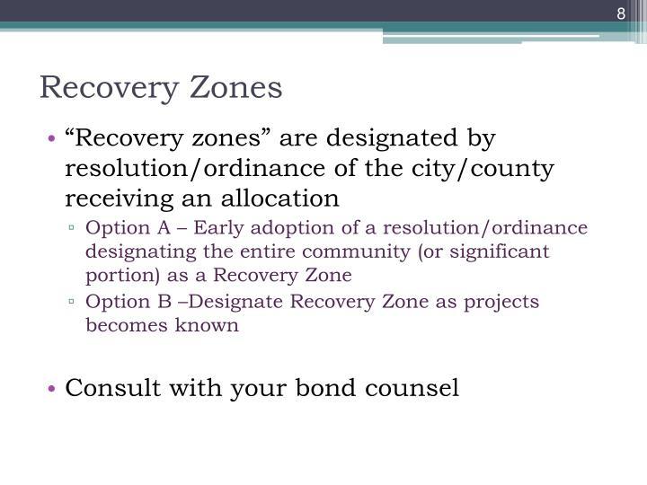Recovery Zones