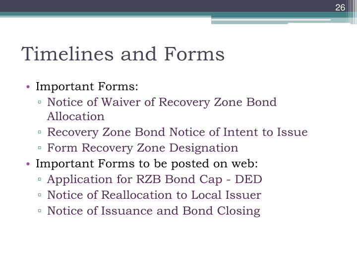 Timelines and Forms