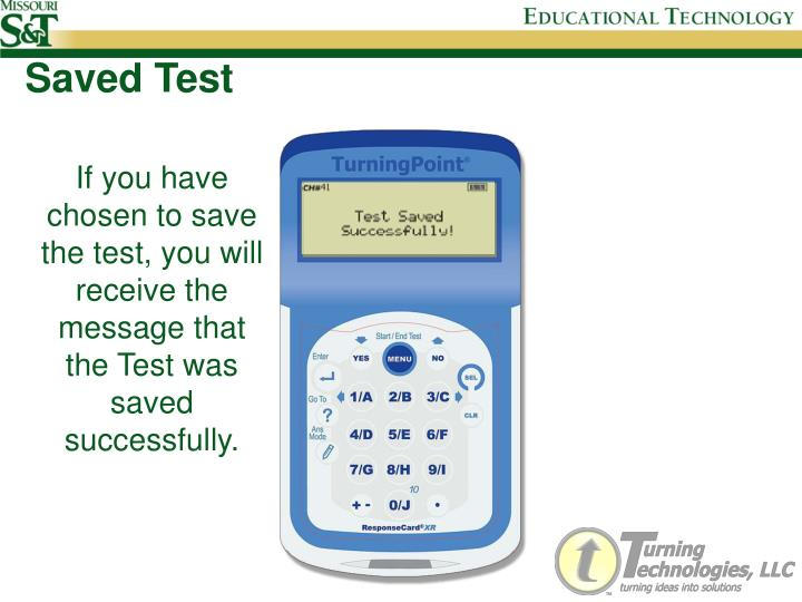 Saved Test