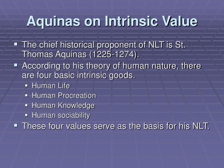 Aquinas on Intrinsic Value