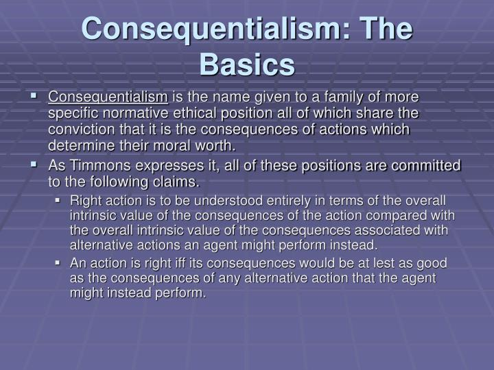 Consequentialism: The Basics