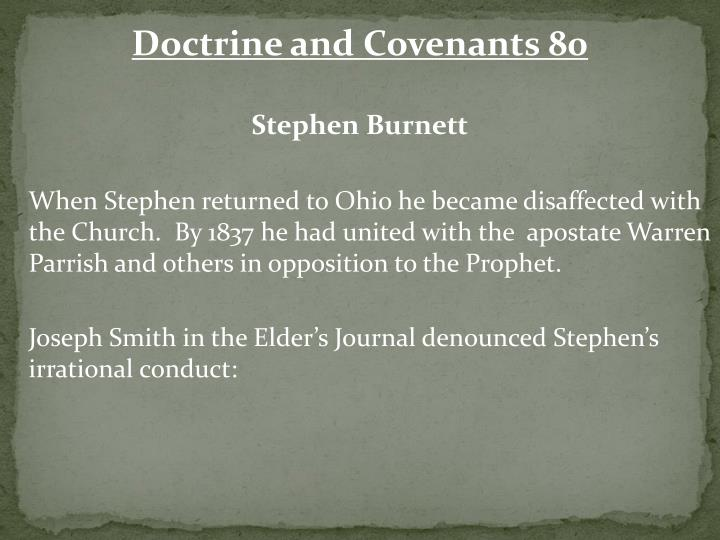 Doctrine and Covenants 80