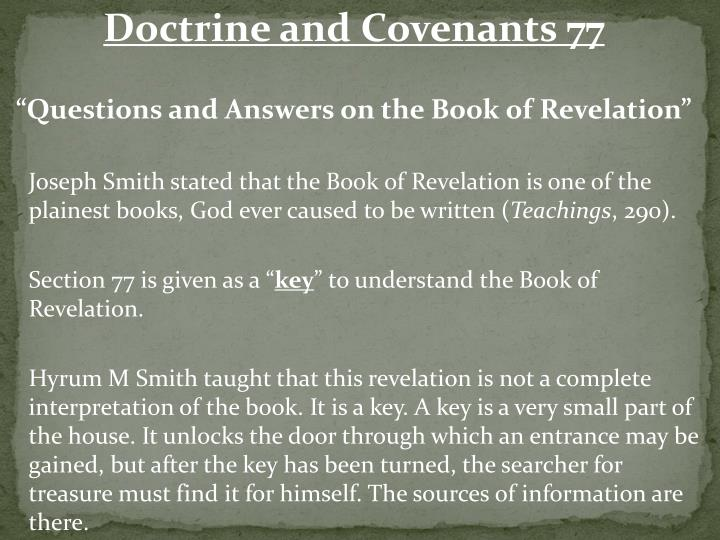 Doctrine and Covenants 77