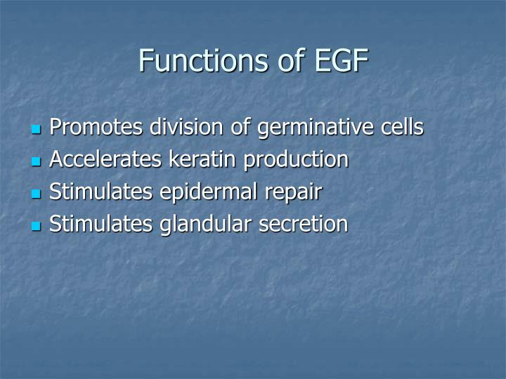 Functions of EGF