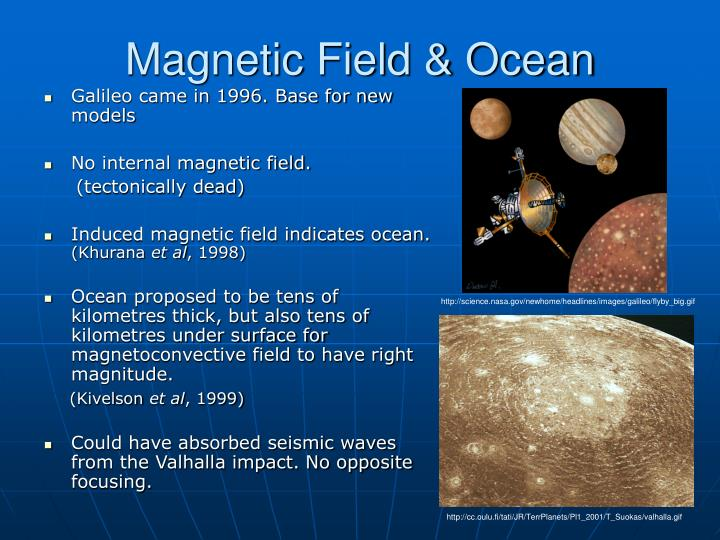 Magnetic Field & Ocean