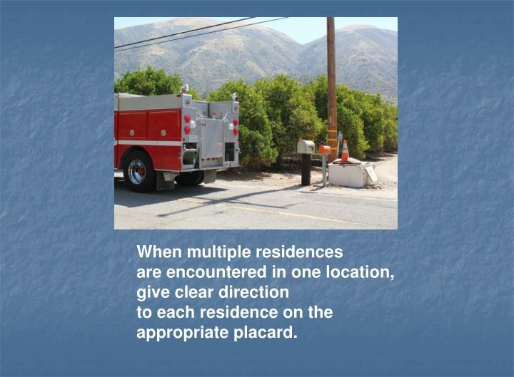 When multiple residences