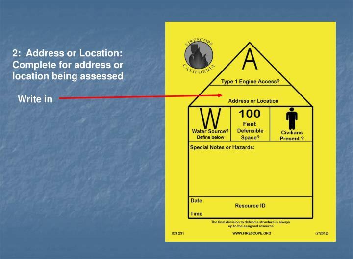 2:  Address or Location: