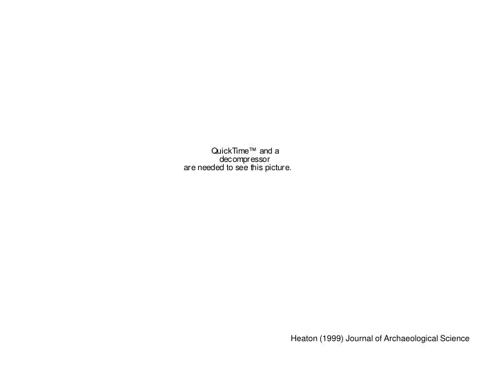 Heaton (1999) Journal of Archaeological Science