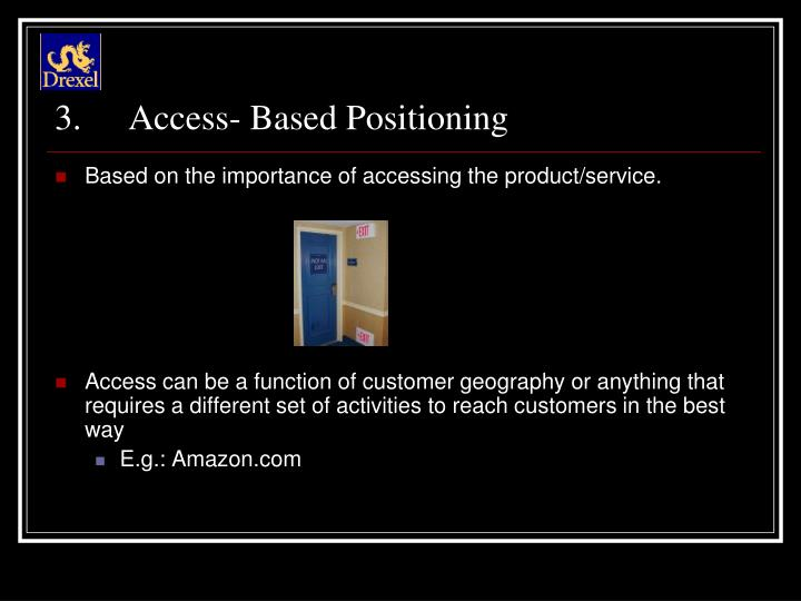 Access- Based Positioning