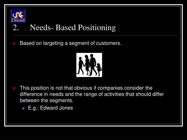 Needs- Based Positioning