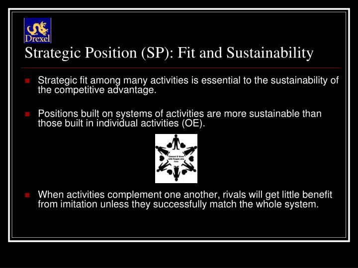 Strategic Position (SP): Fit and Sustainability